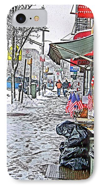 All American Snow IPhone Case by Terry Cork