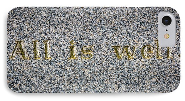 All Is Well IPhone Case