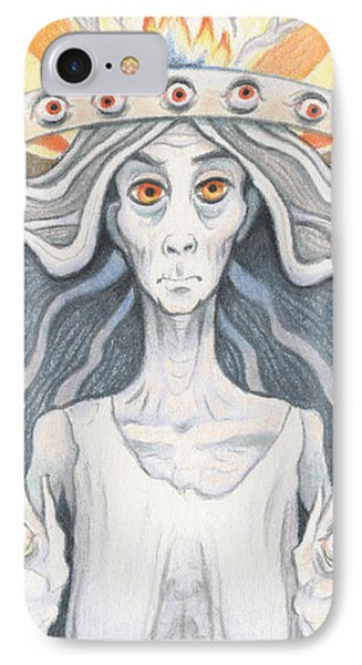 All-seeing Sage Phone Case by Amy S Turner