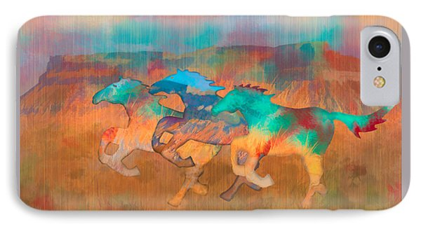 IPhone Case featuring the digital art All The Pretty Horses by Christina Lihani