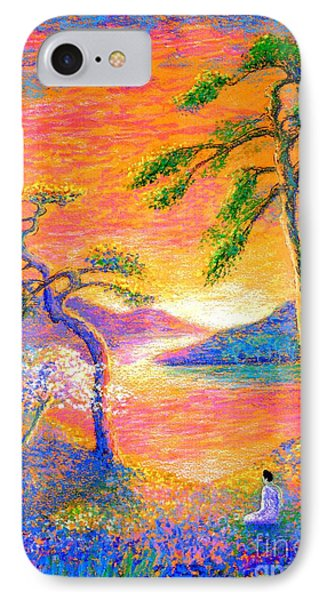 Buddha Meditation, All Things Bright And Beautiful IPhone 7 Case by Jane Small