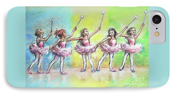 All Together Now...first Ballet Recital Phone Case by Laurie Shanholtzer