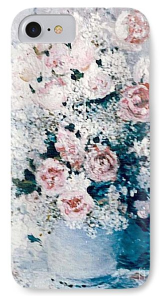 IPhone Case featuring the painting All White by Sorin Apostolescu