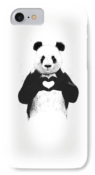 All You Need Is Love IPhone 7 Case by Balazs Solti