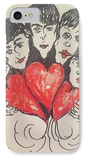 All You Need Is Love Beatles IPhone Case by Geraldine Myszenski