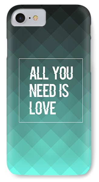 All You Need Is Love IPhone Case by Renato Kolberg