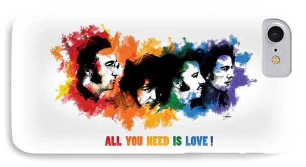 All You Need Is Love IPhone Case by Ryan Anderson