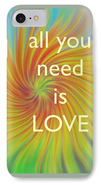 All You Need Is Love Twirl IPhone Case by Terry DeLuco