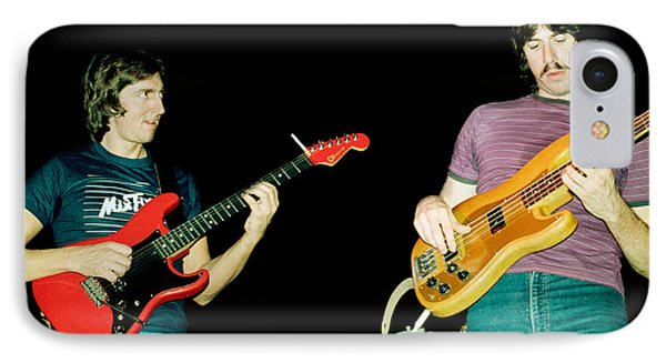 Allan Holdsworth And Jeff Berlin I O U 1983 Tour In Berkeley Ca IPhone Case by Daniel Larsen