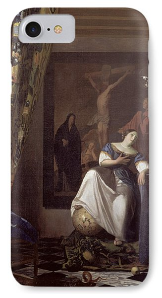 Allegory Of The Faith IPhone Case by Jan Vermeer