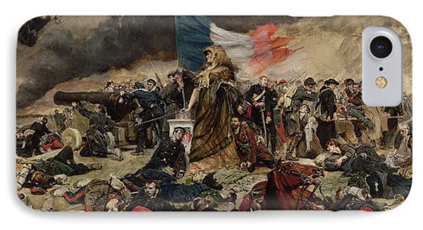 Allegory Of The Siege Of Paris Phone Case by Jean Louis Ernest Meissonier