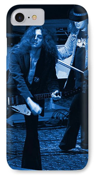 Allen Collins And Ronnie Van Zant Same Old Winterland Blues IPhone Case by Ben Upham