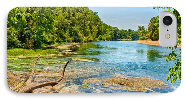 IPhone Case featuring the photograph Alley Springs Scenic Bend by John M Bailey