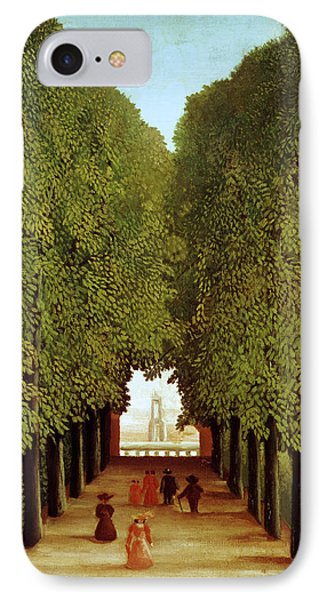 Alleyway In The Park IPhone Case by Henri Rousseau