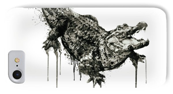 Alligator Black And White IPhone Case