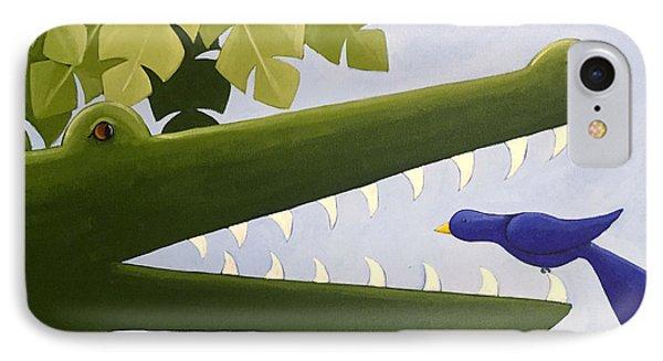 Alligator Nursery Art IPhone Case
