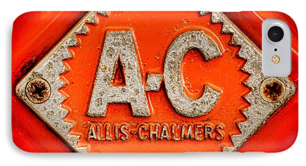 Allis Chalmers Badge IPhone Case by Olivier Le Queinec