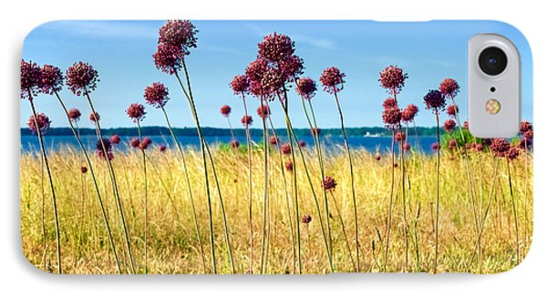 Alliums And The York River IPhone Case