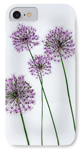 Alliums Standing Tall IPhone Case by Susan  McMenamin