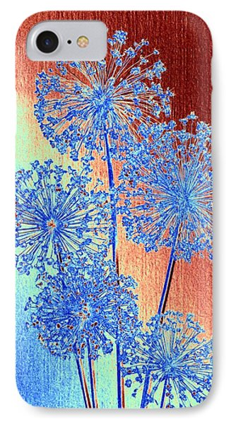 IPhone Case featuring the mixed media Alluring Allium Abstract by Will Borden