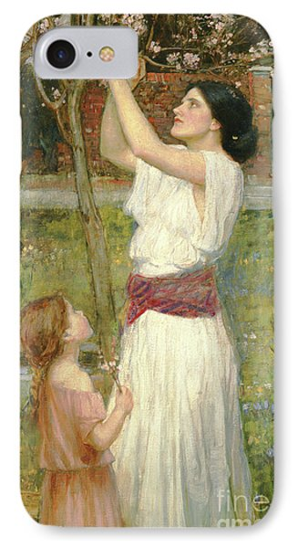 Almond Blossoms IPhone Case by John William Waterhouse