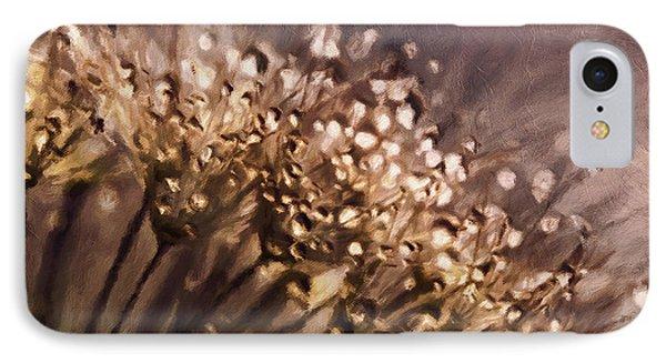 Almost Sepia Delicate Dandelions IPhone Case by Georgiana Romanovna