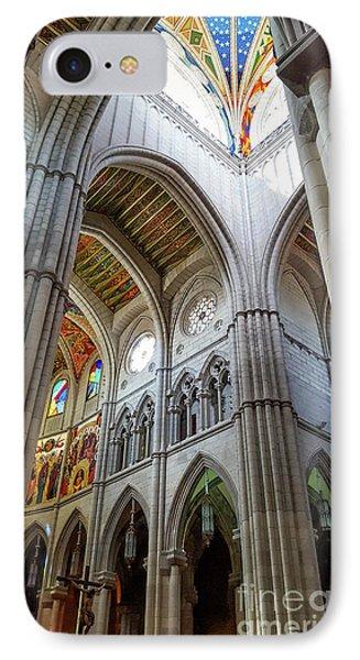 Almudena Cathedral Interior In Madrid IPhone Case