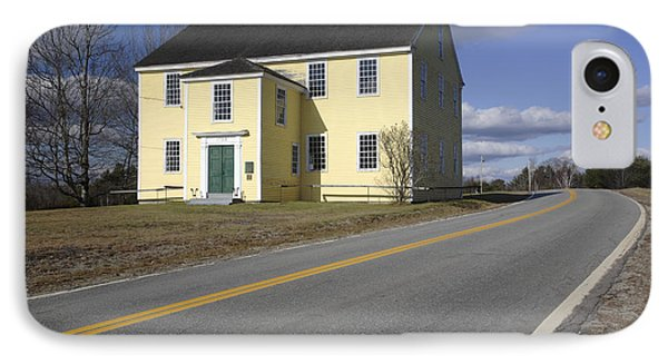 Alna Meetinghouse - Alna Maine Usa IPhone Case by Erin Paul Donovan