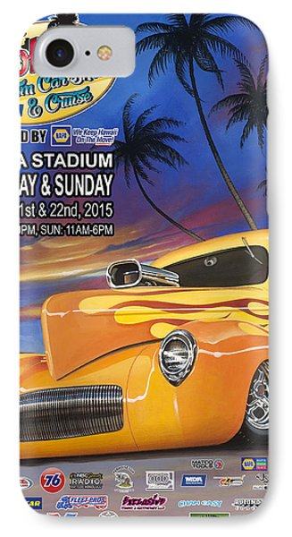 Aloha Car Show Poster IPhone Case by Kenny Youngblood