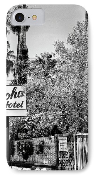 Aloha Hotel Bw Palm Springs Phone Case by William Dey
