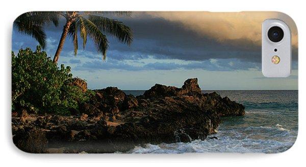 Aloha Naau Sunset Paako Beach Honuaula Makena Maui Hawaii Phone Case by Sharon Mau
