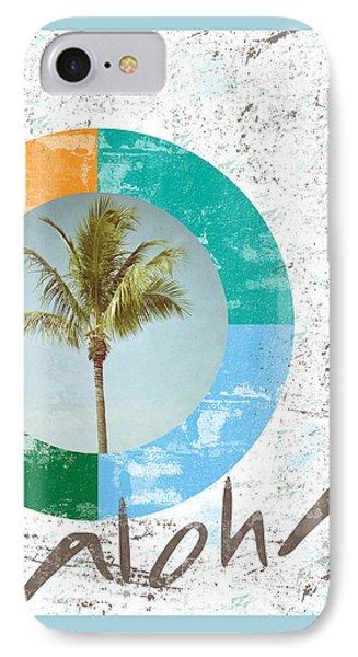 Aloha Palm Tree IPhone Case by Brandi Fitzgerald