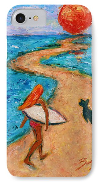 IPhone Case featuring the painting Aloha Surfer by Xueling Zou