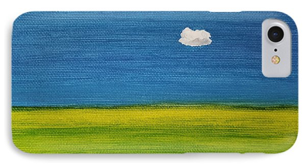 IPhone Case featuring the painting Alone And Fine by Judith Rhue