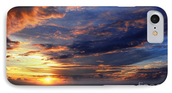 Alone At Sunset IPhone Case by Thomas R Fletcher