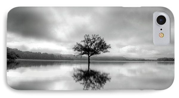 IPhone Case featuring the photograph Alone Bw by Douglas Stucky