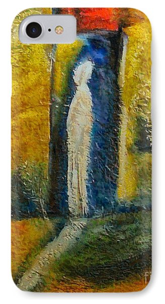 IPhone Case featuring the mixed media Alone by Dragica  Micki Fortuna