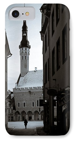 Alone In Tallinn IPhone Case by Dave Bowman