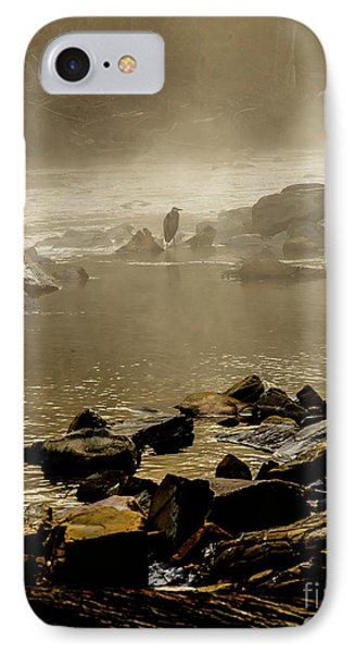 IPhone Case featuring the photograph Alone In The Mist by Iris Greenwell
