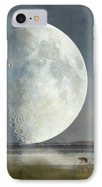 IPhone Case featuring the photograph Alone With The Moon by Angie Vogel