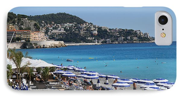 Along The Beach In Nice Looking Over Toward Monaco IPhone Case by Rod Jellison