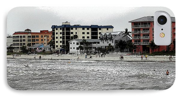 Along The Beach Phone Case by Kathleen Struckle