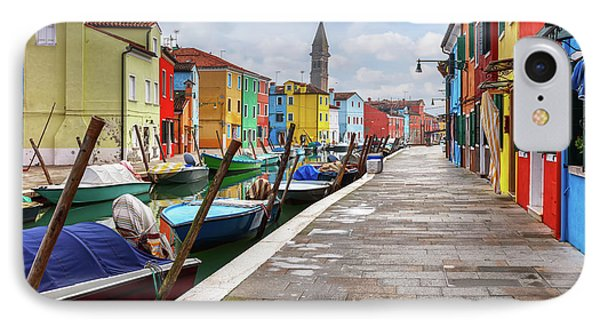 Along The Canal In Burano Island Phone Case by Evgeni Dinev