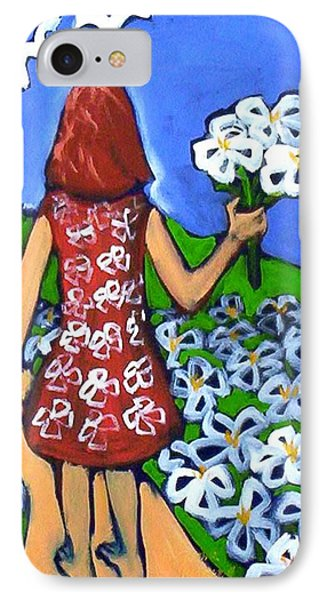 IPhone 7 Case featuring the painting Along The New Path by Winsome Gunning