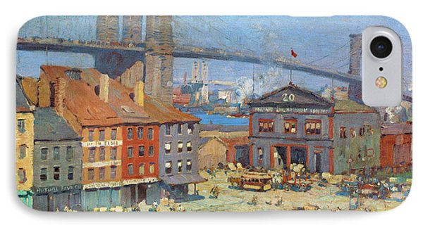 Along The River Front New York IPhone Case by Everett Longley Warner