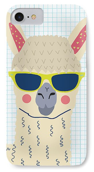 Alpaca IPhone Case by Nicole Wilson