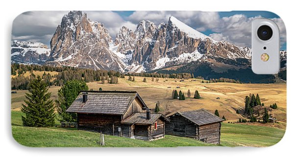 Alpe Di Suisi Cabin IPhone Case by James Udall
