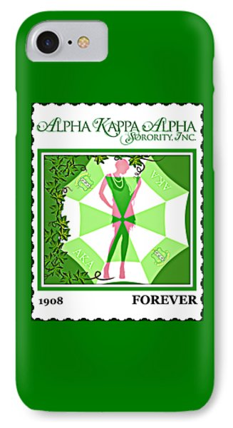 Alpha Kappa Alpha IPhone Case by Lynda Payton