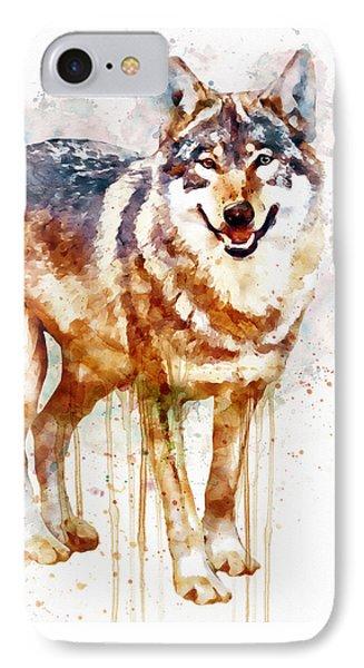 Alpha Wolf IPhone 7 Case by Marian Voicu