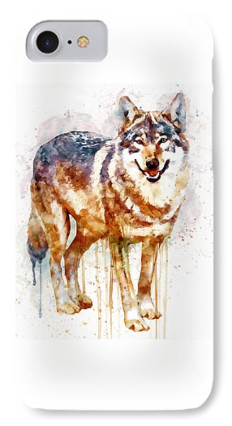 Alpha Wolf IPhone 7 Case by Marian Voicu